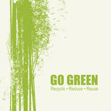 Go Green Recycle Reduce Reuse Eco Poster Concept Stock Image
