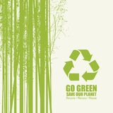 Go Green Recycle Reduce Reuse Eco Poster Concept Stock Photos