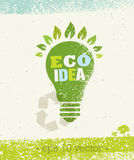 Go Green Recycle Reduce Reuse Eco Poster Concept. Vector Creative Organic Illustration On Rough Background.  Royalty Free Stock Images
