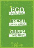 Go Green Recycle Reduce Reuse Eco Poster Concept. Vector Creative Organic Illustration On Rough Background Stock Photo