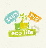 Go Green Recycle Reduce Reuse Eco Poster Concept. Vector Creative Organic Illustration On Rough Background Royalty Free Stock Photography