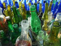 Go Green With Recycled Bottles royalty free stock photo