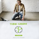 Go Green Refresh Think Green Concept Royalty Free Stock Image
