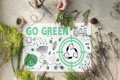 Go Green Reuse Sun Bus Arrow Concept Stock Image