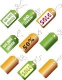 Go Green / Sale Tags Royalty Free Stock Photography