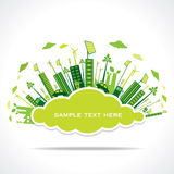 Go green or save earth with cloud shape concept vector illustration