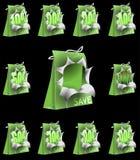 Explosive Environment Friendly Green Shopping Bag Stock Photos