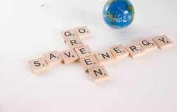 Go Green Save Energy Concept Royalty Free Stock Photography
