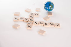 Go Green Save Energy Concept Royalty Free Stock Photos