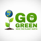 Go green save the planet earth is world tree Stock Photo
