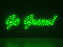 Go Green - Series Neon Signs Stock Images