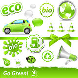 Go-green Set Stock Images