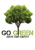 GO GREEN shirt design Stock Photos