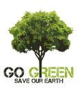 GO GREEN shirt design Stock Photos