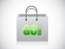 Go green shopping bag illustration design Royalty Free Stock Image