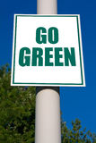 Go Green Sign Royalty Free Stock Images