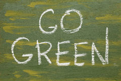 Go green sign Stock Images