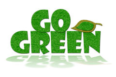 Go Green Sign Royalty Free Stock Photo