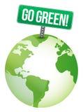Go green sign Stock Photo