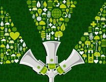 Go green social media marketing background Royalty Free Stock Images