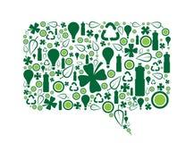 Go Green Speech Bubble Stock Photography