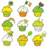 Go Green, St. Patrick's day Cupcakes Stock Photo