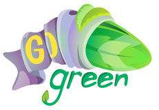 Go green symbol Royalty Free Stock Photo