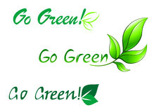 Go green symbols Royalty Free Stock Photo