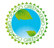 Go green tag Stock Photos