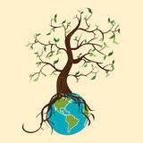 Go green tree world Stock Images