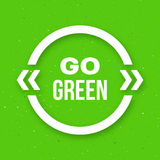Go green typographic poster for Earth Day Royalty Free Stock Images