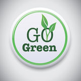 Go Green - Vector Button Badge Royalty Free Stock Photos