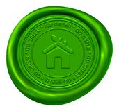 Go Green Wax Seal Royalty Free Stock Image