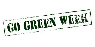 Go green week. Rubber stamp with text go green week inside, vector illustration Stock Photo