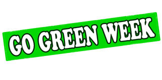 Go green week. Rubber stamp with text go green week inside, vector illustration Stock Image