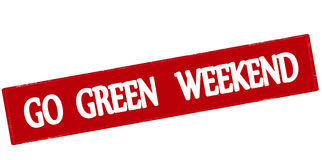 Go green weekend Royalty Free Stock Photo