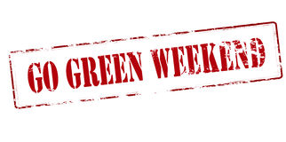 Go green weekend Stock Image