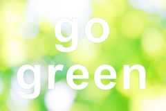 Go green words Stock Images