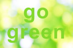 Go green words Royalty Free Stock Images