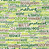 Go Green words seamless pattern Royalty Free Stock Photo
