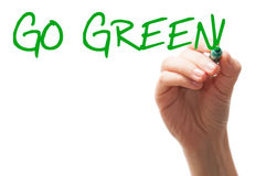 Go green words Royalty Free Stock Photo