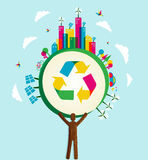 Go Green world concept tree Royalty Free Stock Photo