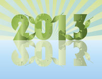 Go Green in the Year of 2013. With Planet Earth Pattern Illustration Royalty Free Stock Image