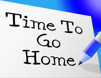 Go Home Means At This Time And Goodbye Royalty Free Stock Image