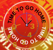 Go Home Represents See You Soon And Apartment Royalty Free Stock Photography