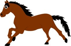 Go horsey!. An elegant horse galloping, but could also be useful if you want to portray their figure Royalty Free Stock Photos