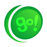 Go icon Stock Image