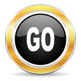 go icon Stock Photography