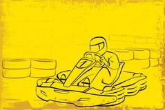 Go kart. Racing background, illustration Royalty Free Stock Photos