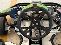 Go kart. Steering wheel of go kart Royalty Free Stock Photography